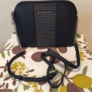 現貨!!! MK Michael Kors Crossbody Saffiano Leather Bag (Style# 35F7SD7C3L 黑色)