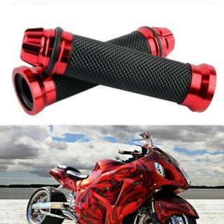 Aluminum Rubber Gel Hand Grips for 22mm Handle Bar Motorcycle