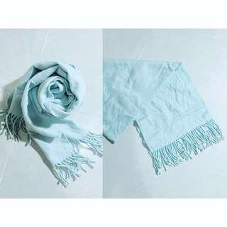 🎄聖誕禮物首選🈹(💯全新) 粉藍流蘇長方形圍巾
