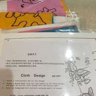 Children craft materials- cloth design