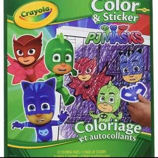 Pj mask crayola coloring book