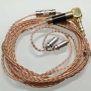 耳機升級線 純人手編製 訂做 8絞 16絞 單晶銅 (Shure /MMCX / CM / Westone / UE / Ath)