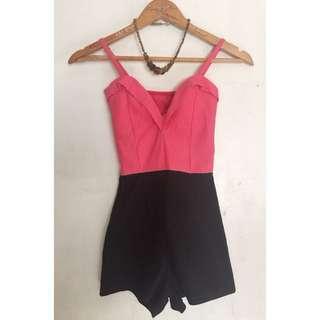 Black & Pink Romper from Crossings