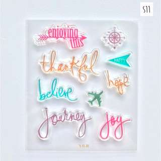 Clear Stamps Set for Planners (S11 - Journey)