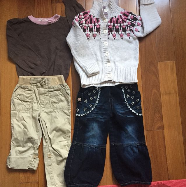 4 pc girl's outfit H&M Joe Fresh, Children's Place Size 3T