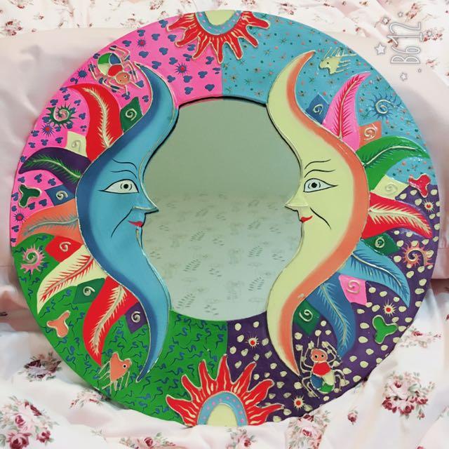峇里島手工繪製掛鏡