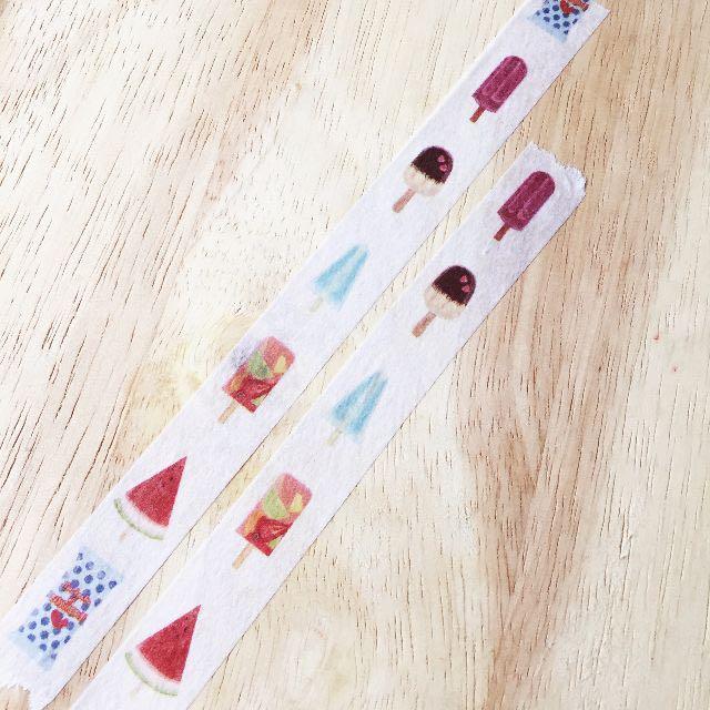 [和紙膠帶分裝]夏祭系列和紙膠帶-兒時冰棒