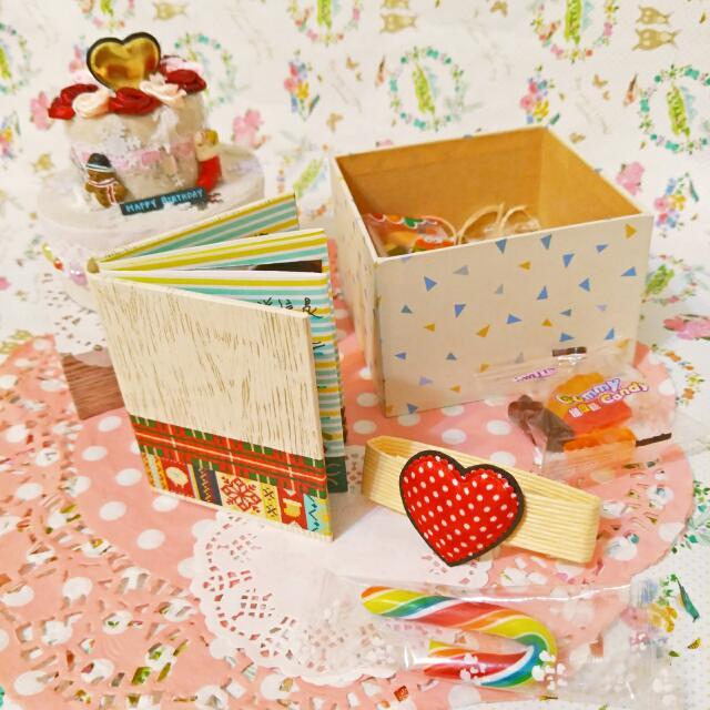 手工✨聖誕卡片蛋糕禮物盒