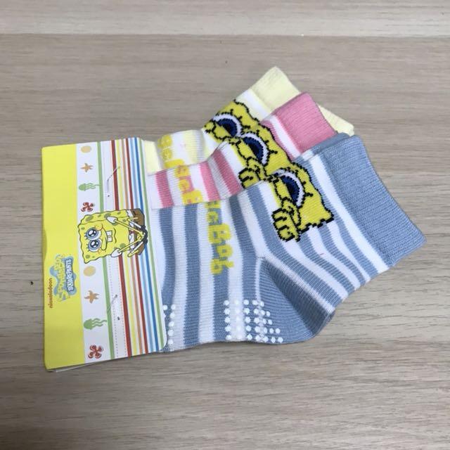 【全新】海綿寶寶女童襪子 一組3雙 85元 僅此一組