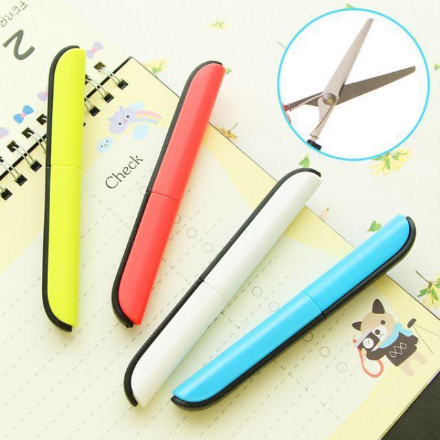 [現貨降價] 設計感文具・攜帶式筆型安全彈力剪刀・共4色