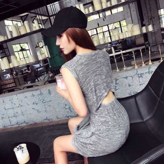 #歐美 顯瘦心機小洋裝