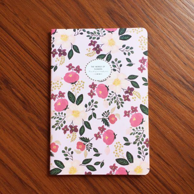 現貨供應。微美系花語筆記本。粉紅花款 / 共4款