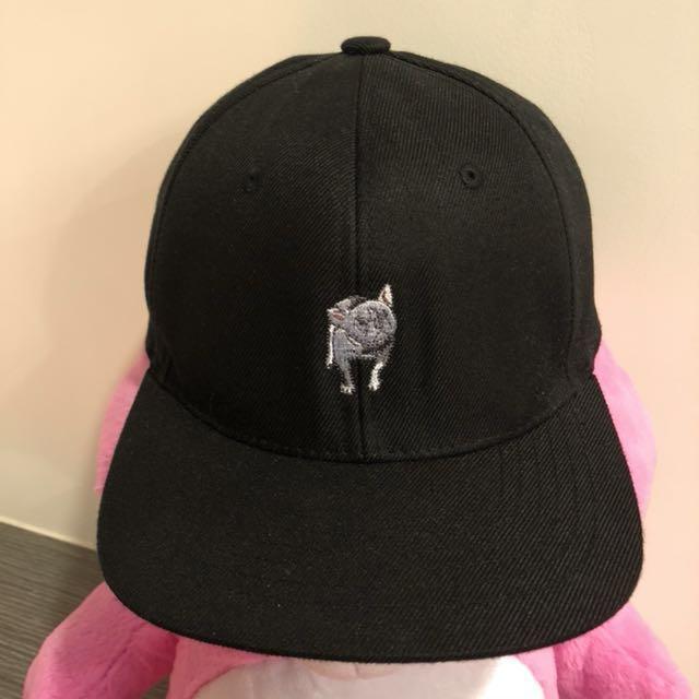 鬥牛犬 黑色 棒球帽