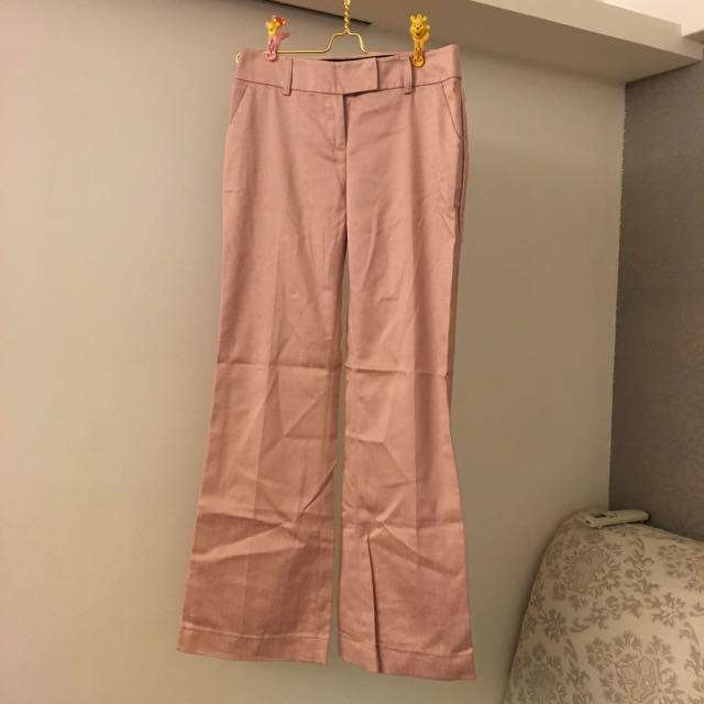 二手粉色西裝褲 老師 女業務 主管必備