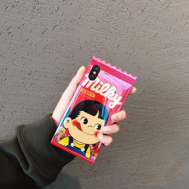 ✨ ░ LIZDASHOP / 牛奶妹糖果蘋果防摔全包邊軟殼手機殼