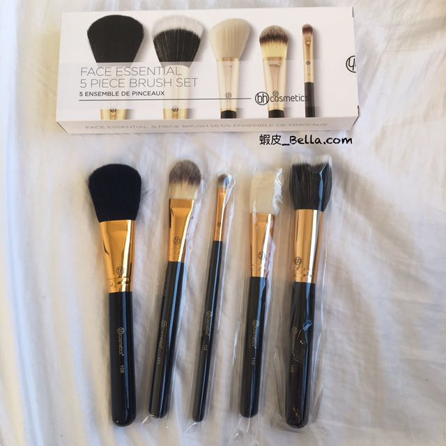 美國代購🇺🇸 BH COSMETICS 黑色 刷具組 五件組 禮物 BH cosmetic 化妝刷子