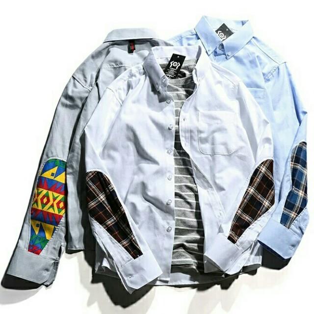 日系原宿拼袖襯衫 有需要哪款請PO款示給我 款式:三色 尺寸:S-3XL 賴lucky2200(小培) FB:南部雜貨舖