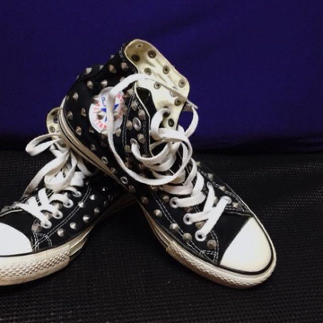 韓國All STAR卯釘高桶帆布鞋