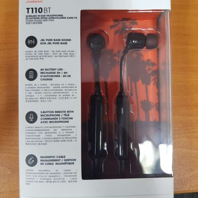 Authentic JBL TT10BT (wireless in-ear headphones)