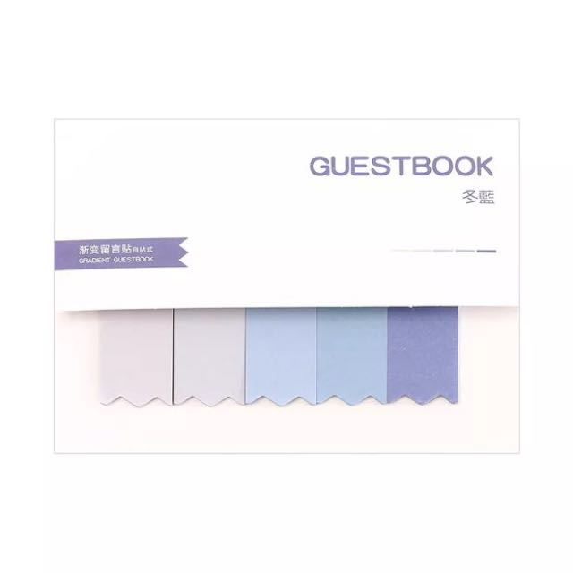Blue pastel memo paper sticky note