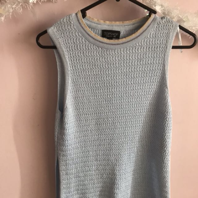 Blue top shop shirt