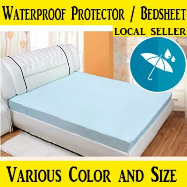 BN FREE MAIL Waterproof Bedsheet Mattress Protector, Furniture, Others On  Carousell