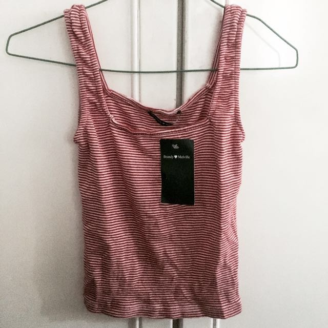 775ee70179e347 BNWT brandy Melville striped red and white hannah tank TOP authentic ...