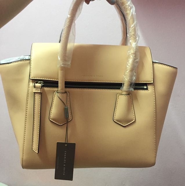 BRAND NEW Charles and Keith Beige Handbag bd06656d2187d