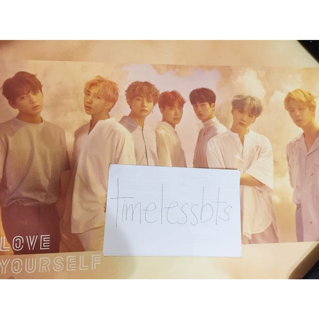 BTS Love Yourself 'O' Official Poster