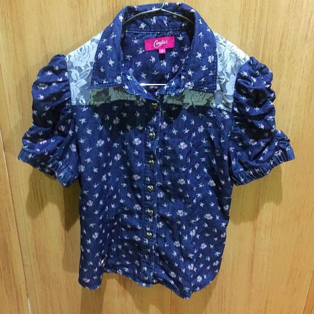 Candie's Floral Blouse