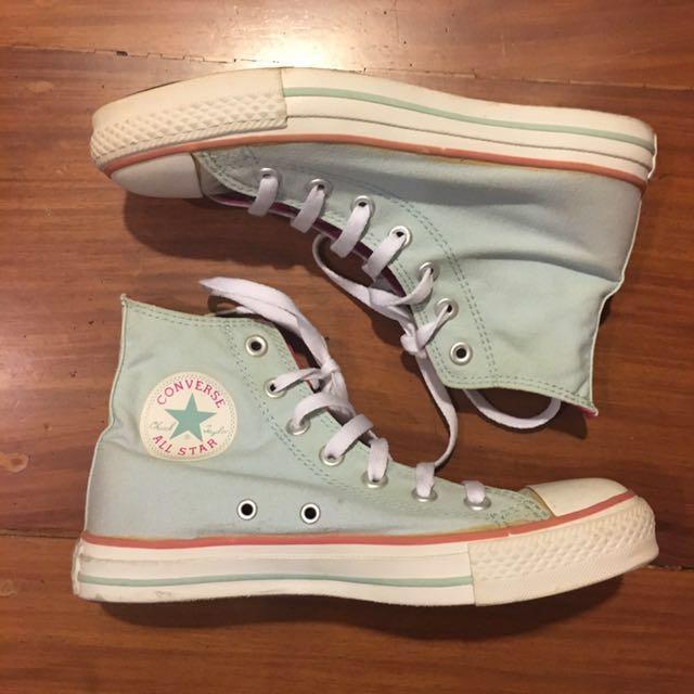Converse Chucks High-cut Mint Green (W7)