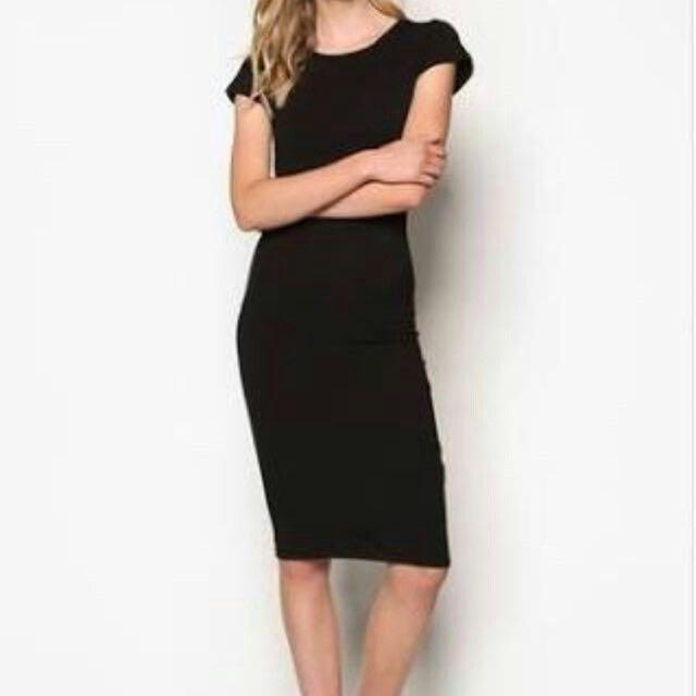 Cotton On Little Black Dress Midi Dress Bodycon