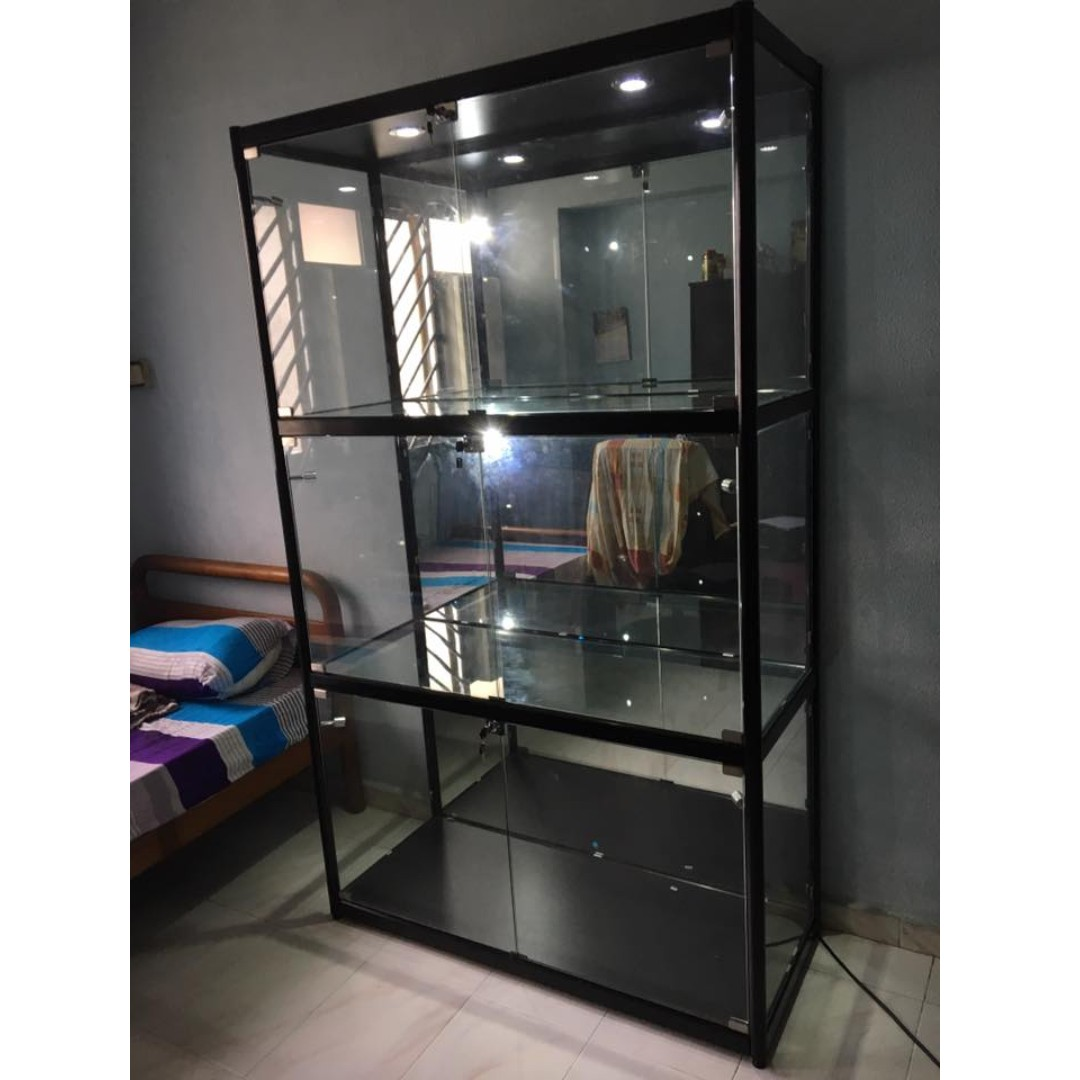 Custom Made Glass Display Cabinet Furniture Shelves Drawers On Carousell
