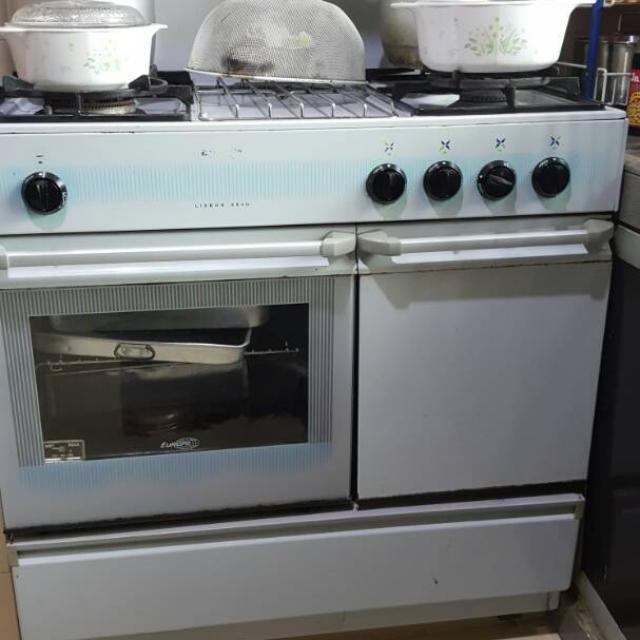 Dapur Gas Cooker Dgn 4 Burner Tungku 3 Layer Oven Kitchen Liances On Carou