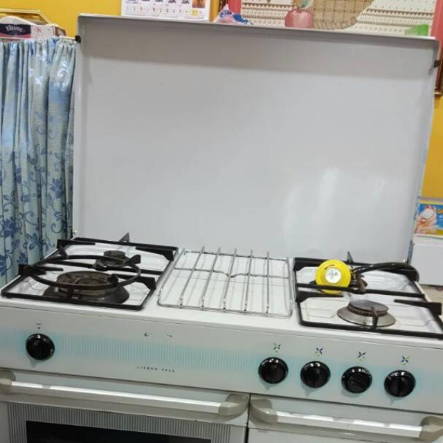 Dapur Gas Cooker Dgn 4 Burner Tungku 3 Layer Oven Kitchen