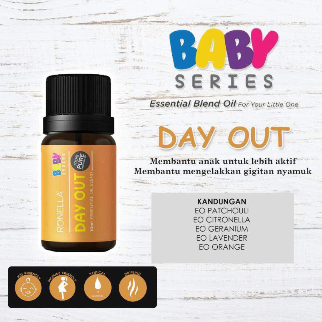 Day Out Essential Blend Oil For Babies Kids Geteh Nyamuk Photo