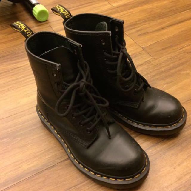 Dr martens 黑 馬丁靴 1460 uk4 37 23.5-24