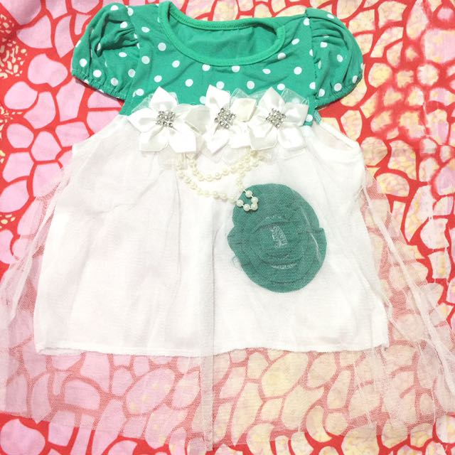 Dress bayi/ baby newborn - 3 bulan