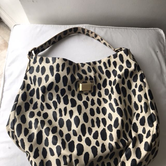 excellent condition authentic marc by marc jacobs hobo bag animal print 17 by15