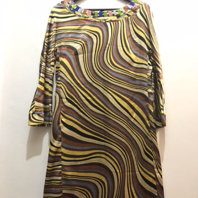 excellent condition Paul Smith printed silk tunic dress - fits m to small L