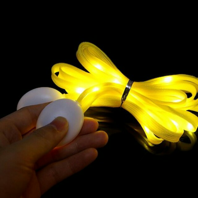 Fashion LED Shoelaces Flash Light Up Glow Stick Strap Shoe Laces Clubbing Party Hot Gift Present