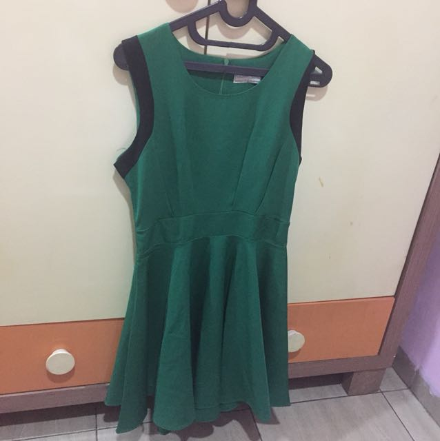 green dress from Belle Ivy