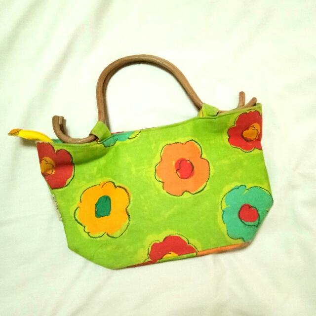 Green Floral Bag