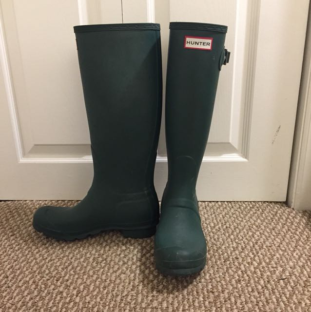 Green Hunter Boots US 6/7 (38)