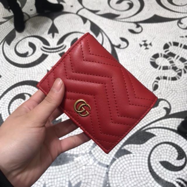 GUCCI 超時尚紅錢包 英國代購