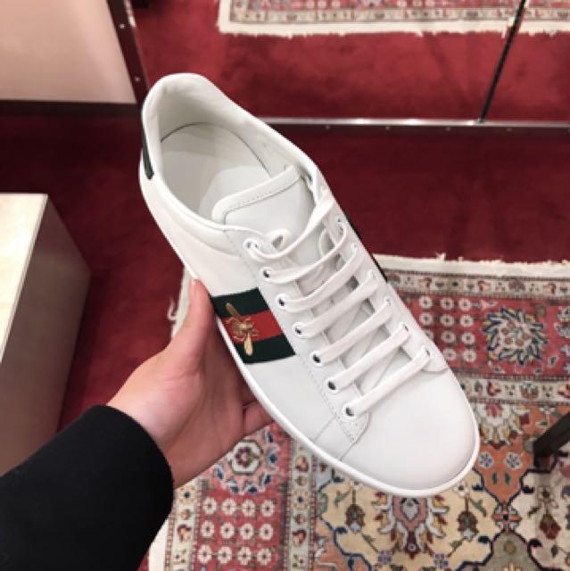Gucci 小白鞋 蜜蜂 英國代購