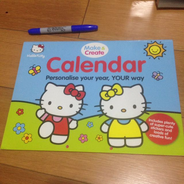 Hello Kitty make & create calendar