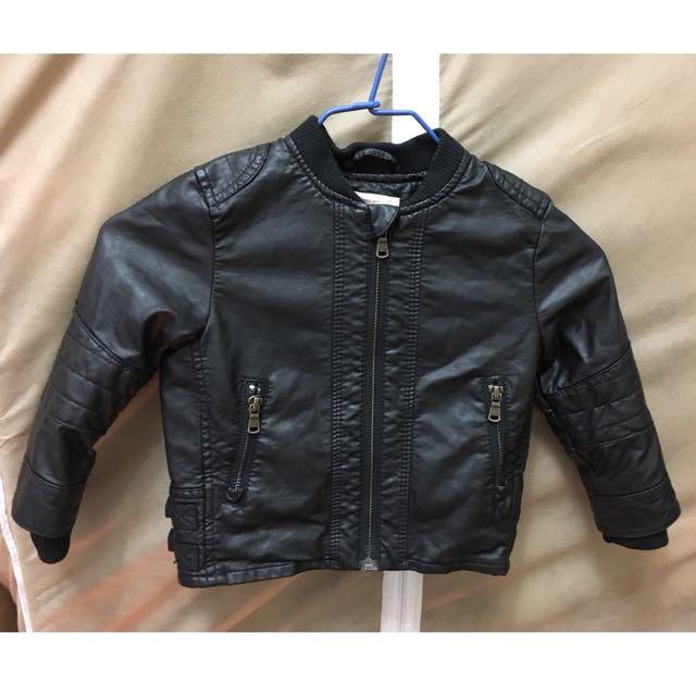 H&M 幼兒皮衣外套