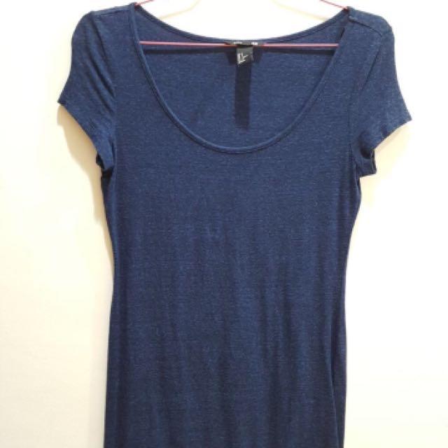 H&M Dress Blue Cotton