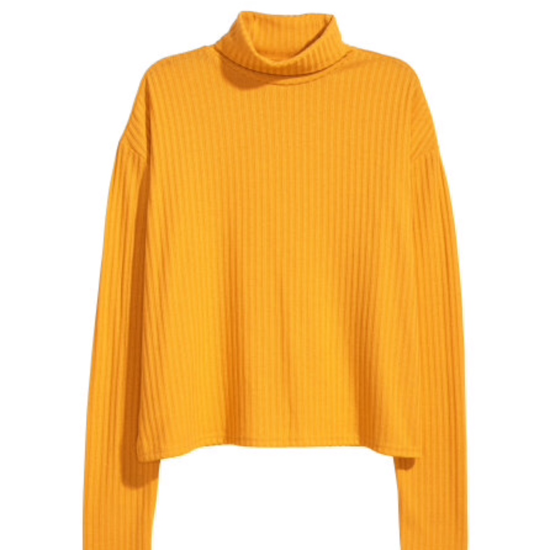 Hm Yellow Mustard Sweater Womens Fashion Clothes Tops On Carousell